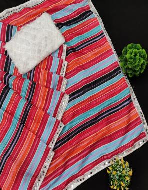 multi saree -sparkle silk | blouse -soft fancy net  fabric embroidery viscose thread mirror work wedding
