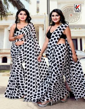 white black heavy dani  fabric printed work casual