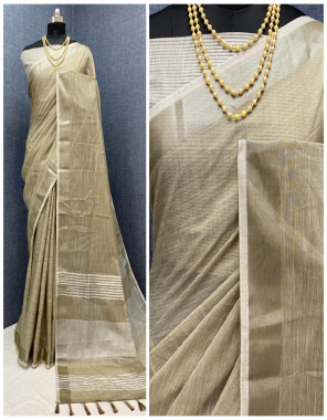 chiku pure linen fabric weaving work casual