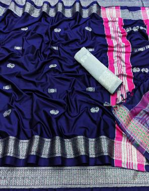 blue pure silk cotton fabric weaving jacqaurd  work wedding