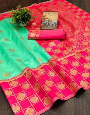 rama sky pink soft kanjivaram silk fabric weaving jacqaurd work ethnic