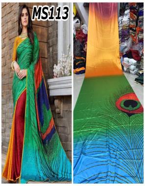 morpich  japan satin fabric digital print work casual
