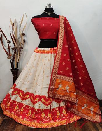 white red lehenga -banarasi brocade silk with inner cancan semi stitch |blouse -pure banarasi silk |dupatta -pure banarasi silk  fabric weaving jacqaurd  work festive