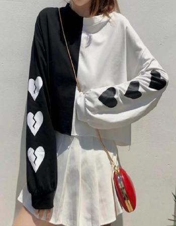 white black rib cotton length 17 |sleeve length 25  fabric printed work festive