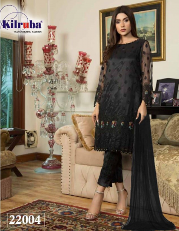black top- super net embroidery |bottom + inner -santoon |dupatta -super net with peral work |type -semi stitched |size -fit upto 60 |length 50 fabric embroidery work wedding