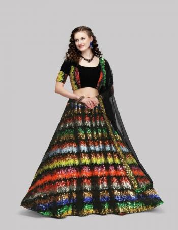 black lehenga -velvet size -upto 42  choli -velvet 0.80m  dupatta -net fabric seqeunce work work festive