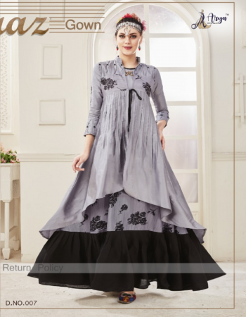 grey fabric -cotton with heavy crepe inner length 56 flair -6m  fabric digital print embroidery work casual