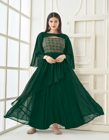 green heavy georgette embroidery handwork with heavy crepe inner fabric embroidery handwork work wedding