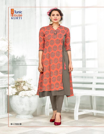 orange viscose rayon print |length 50 fabric printed work wedding