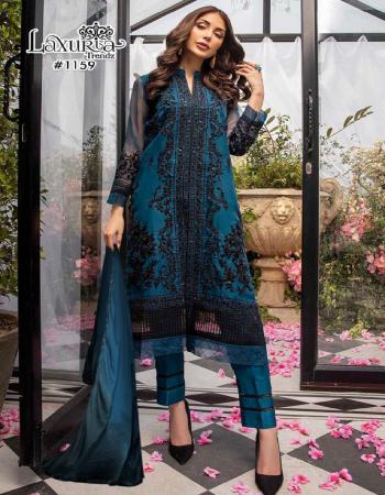 blue black top -fox georgette | pant -cotton strachable |dupatta -chinon fabric diamond handwork work wedding