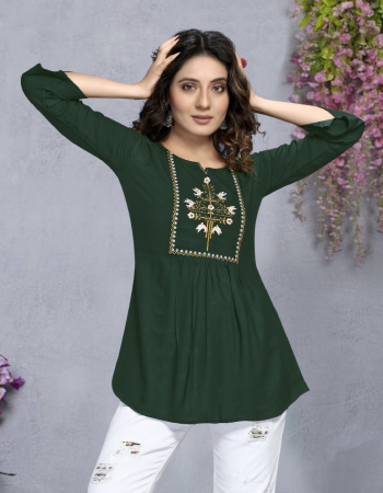 green rayon | length upto 30 fabric embroidery work running