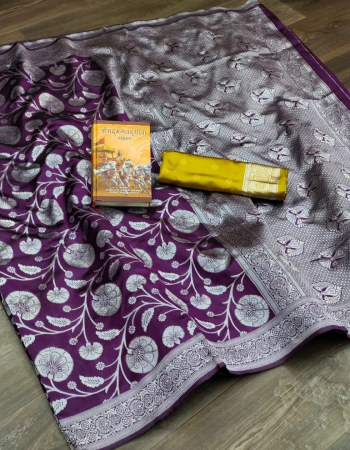 wine soft lichi banarasi silk fabric weaving jacqaurd work ethnic