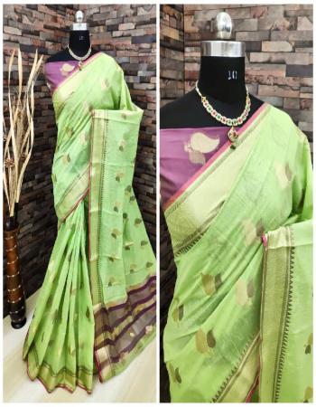 parrot pure linen silk fabric weaving jacqaurd work wedding