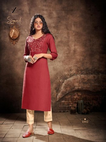 maroon rayon slub fabric embroidery work casual