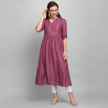 grape viscose fabric plain work casual