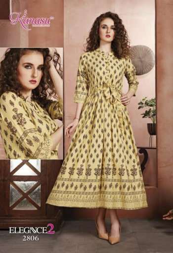 cream rayon fabric gold print work casual