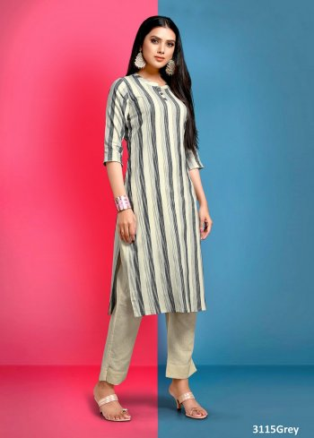 grey cotton fabric printed work casual