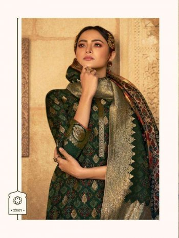 dark green jaquard fabric digital print work occasionaly