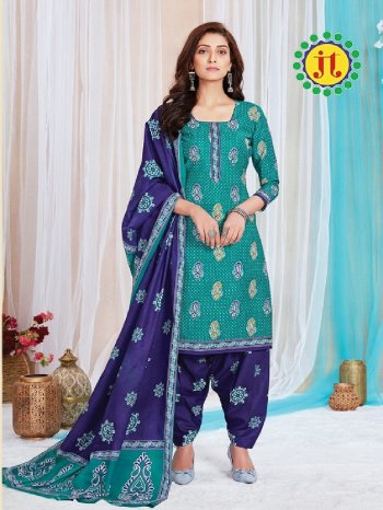 peacock green cotton  fabric printed work ethnic