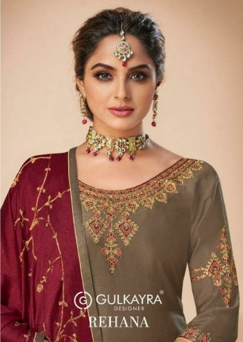 grey silk fabric embroidery work ethnic
