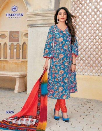 sky blue cotton fabric printed work ethnic