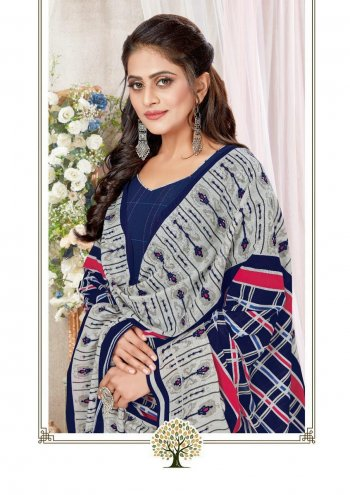 navy blue cotton fabric printed work party