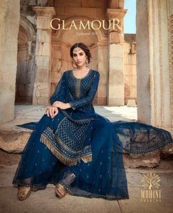 navy blue georgette fabric embroidery work wedding