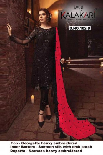 red georgette fabric embroidery work ethnic