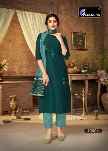rama green masleen fabric embroidery work occasionaly