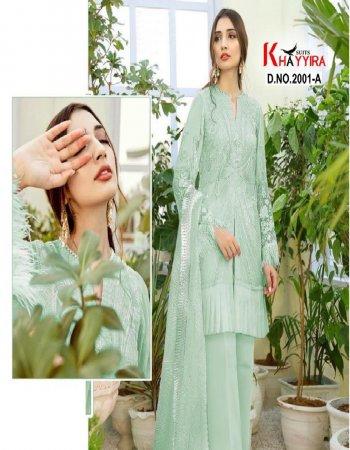 light green net fabric emrodary work festive