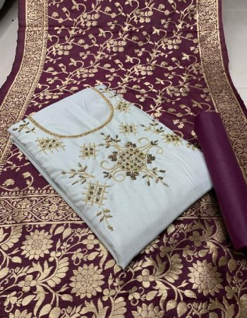 white slab cotton fabric handwork work party wear