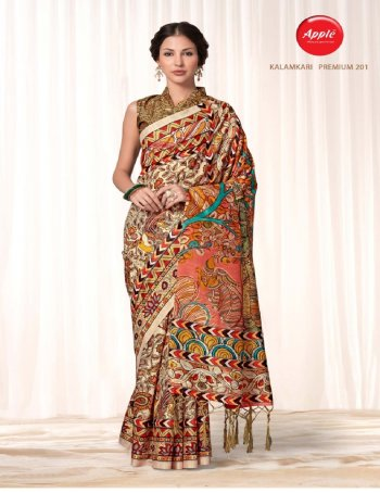 brown bhagalpuri silk fabric degital print work casual