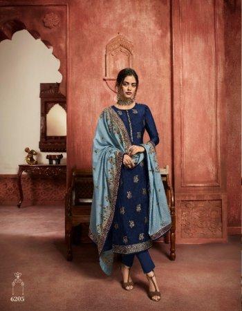 dark blue jacquard fabric embroidery work wedding