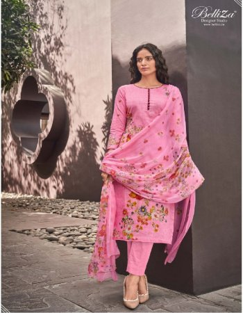 pink pure cotton fabric printed work casual