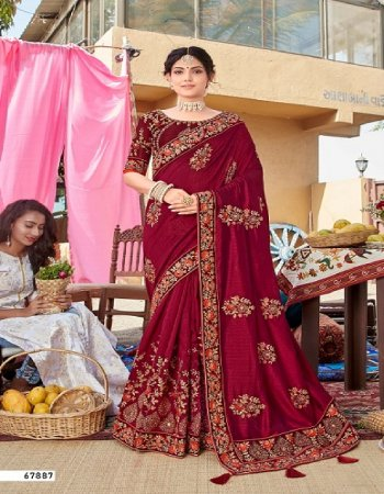 mauron silk fabric embroidery work casual