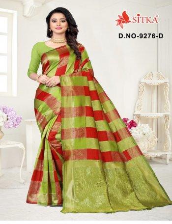light green & mauron silk fabric printed work casual