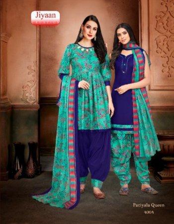 light blue & purple cotton fabric printed work casual