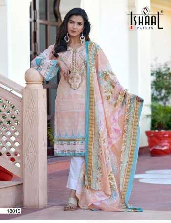 light pink pure lawn fabric printed work casual