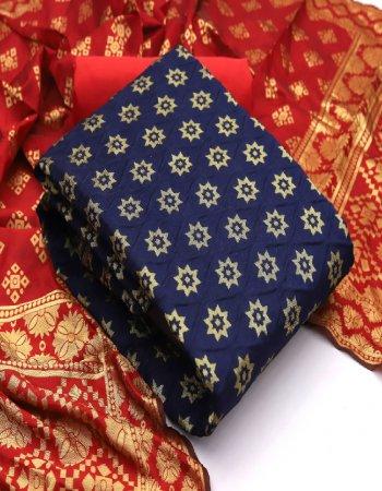 blue banarasi silk fabric print work ethic
