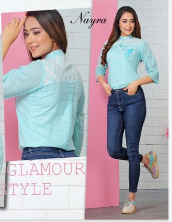 sky blue cotton fabric embroidery work casual