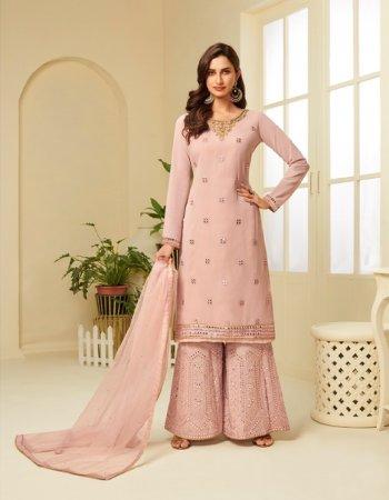 pink georgette fabric gota work work festive