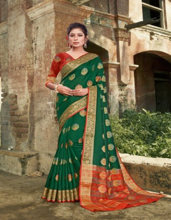 green silk fabric printed  work casual