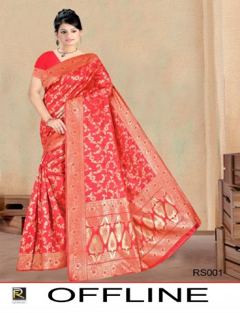 red silk fabric printed work festive
