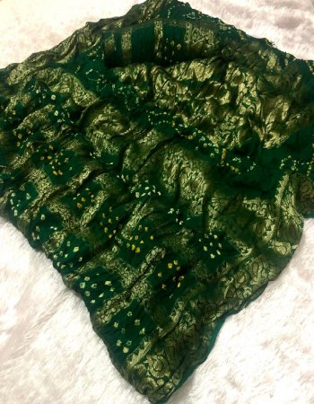green pure viscose fabric bandhni print work casual