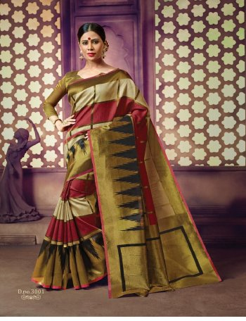 golden cotton handloom fabric printed work casual