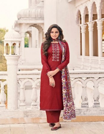 mauron pure cotton fabric embroidery work casual