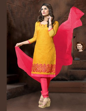 yellow model silk fabric printed work casual