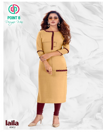musterd yellow rayon fabric embroidery work casual