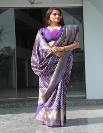 purple pure lichi silk fabric jacquard work casual