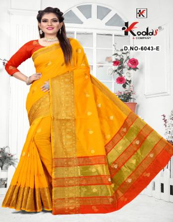 yellow cotton silk  fabric weaving work casual